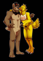Commission- Freddy x Chica by Rusty0