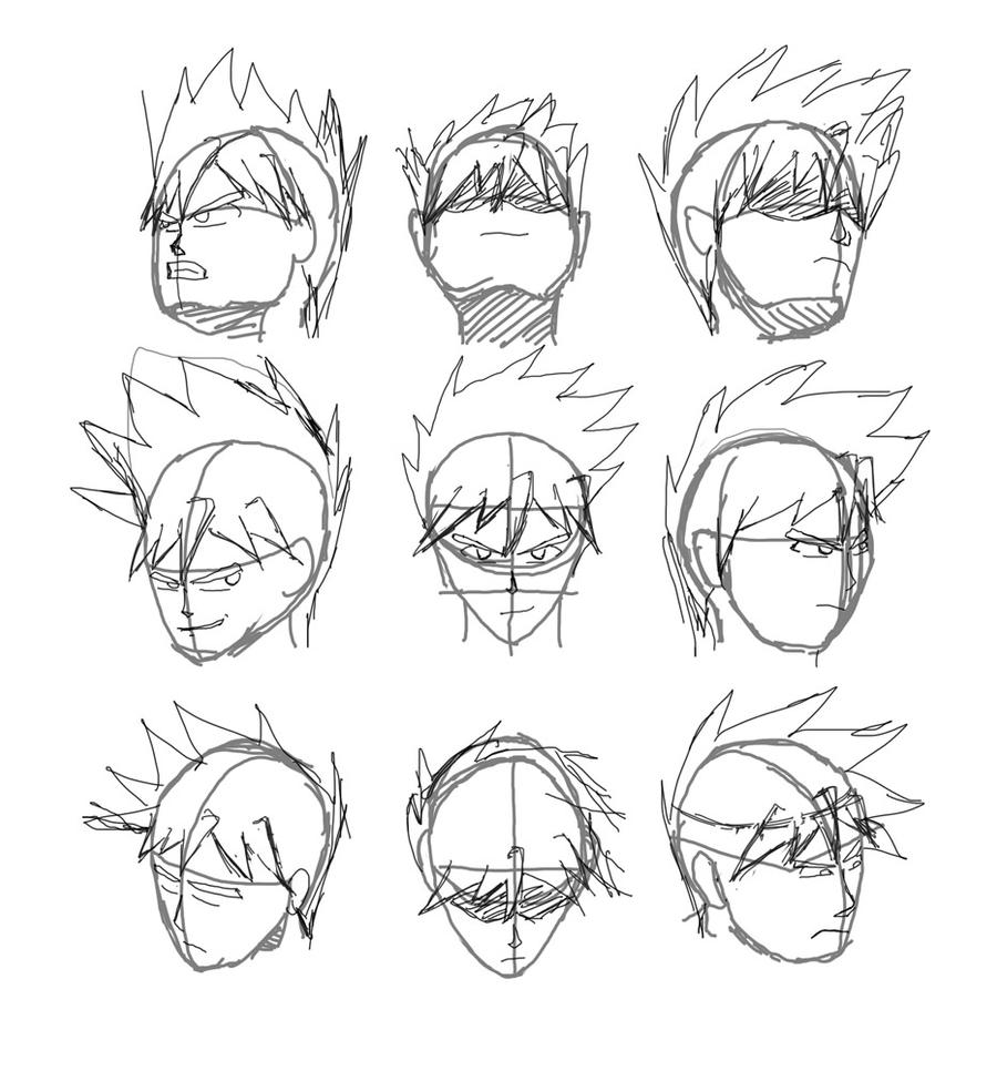 how to draw head angles