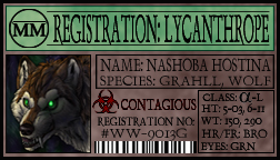 Werewolf registration by Nashoba-Hostina