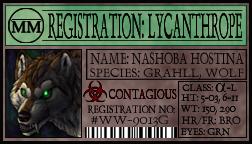 Werewolf registration by Nashoba-Hostina