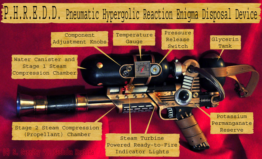Steampunk Weapon: P.H.R.E.D.D. by Nashoba-Hostina