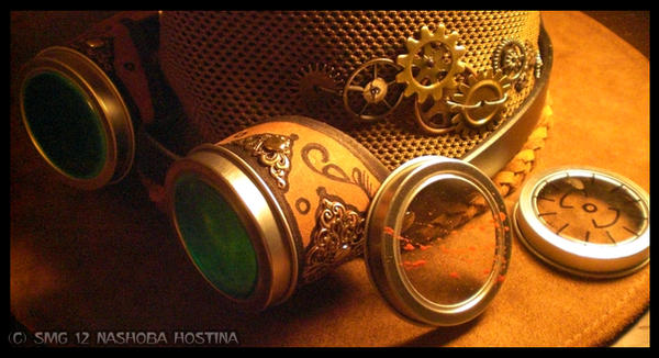 Steampunk Goggles and Interchangable Lenses
