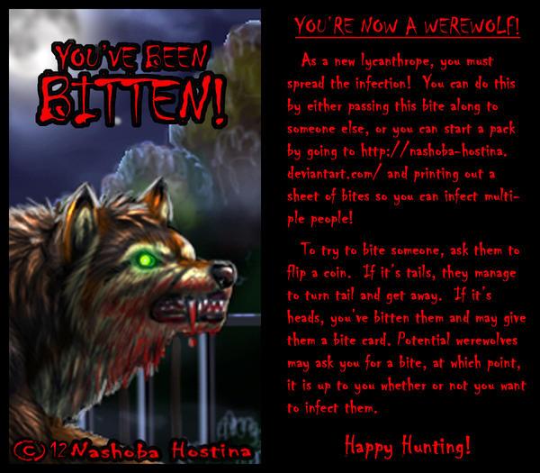 Werewolf Bite Card (One-card game!)