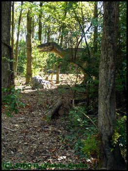 Yangchuanosaurus Juvenile in its Natural Habitat