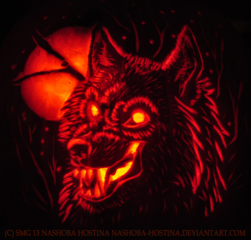 werewolf pumpkin carving by nashoba hostina on deviantart