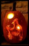 Howling Werewolf Pumpkin