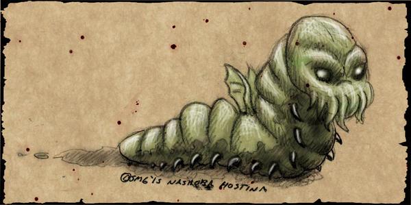 Cthulu maggot by Nashoba-Hostina