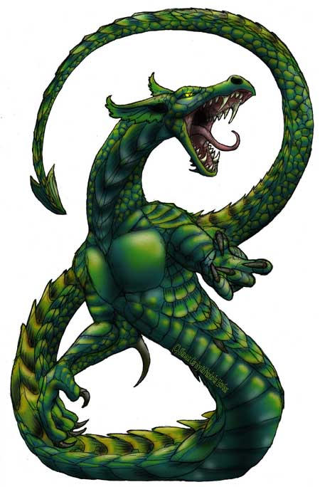 Lindworm Dragon: Races: Dragons Part 6 (Ground Drakes, Orms, And The Sea
