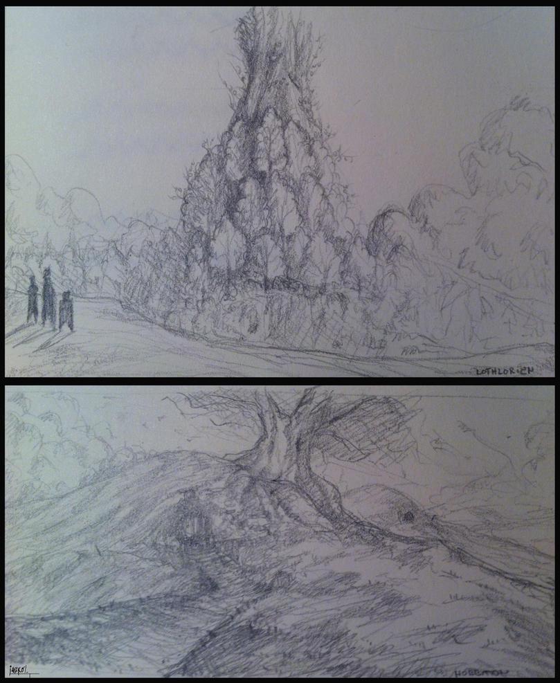 LOTR sketches by jaskolJKL