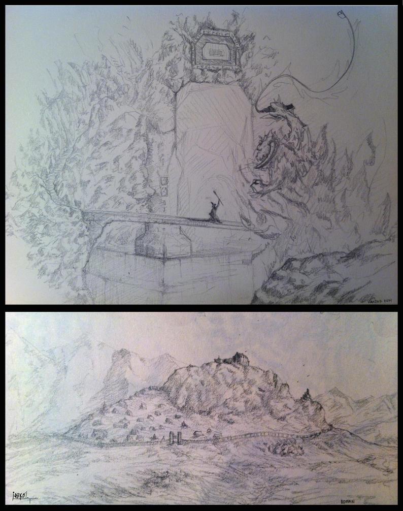 LOTR sketches2 by jaskolJKL