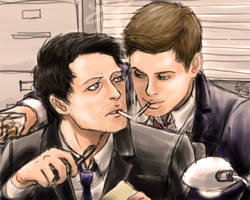 destiel detectives by moloko-plus