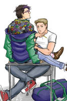 jock!dean and hipster!cas by moloko-plus