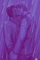 Dean/Castiel in the rain by moloko-plus