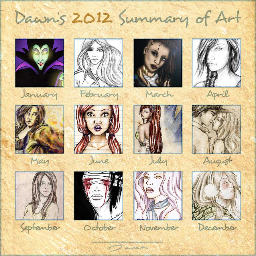 Dawn's 2012 Summary of Art by DawnArts