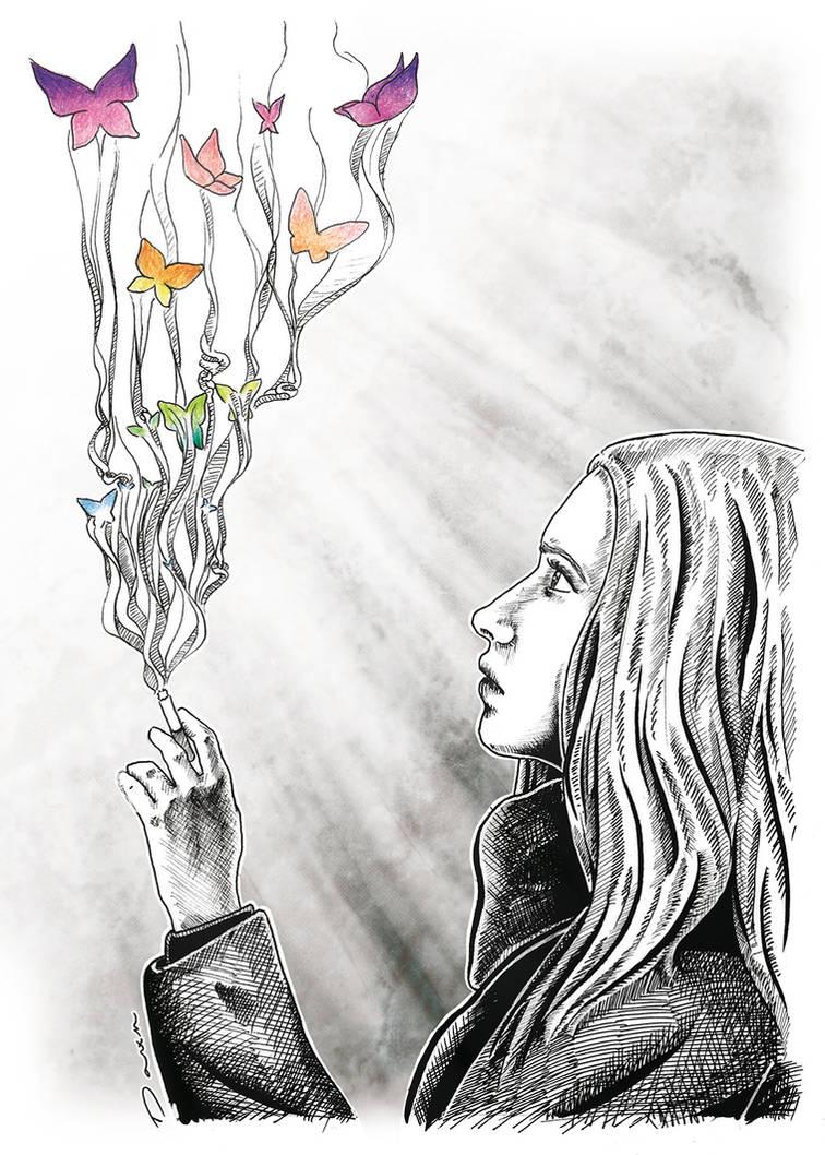 Smoking butterflies