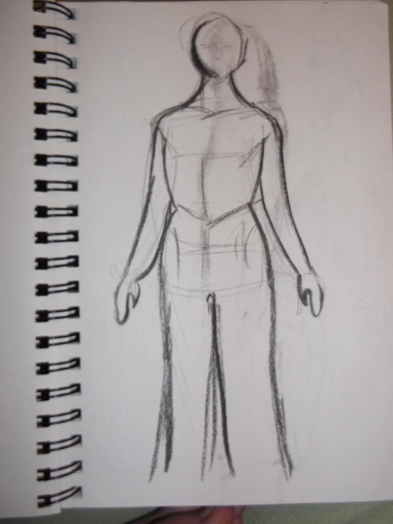 Straight Standing Figure Sketch By NingerGinjaaahh On DeviantART
