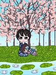 Under the sakura trees by ConejoLunaOscura