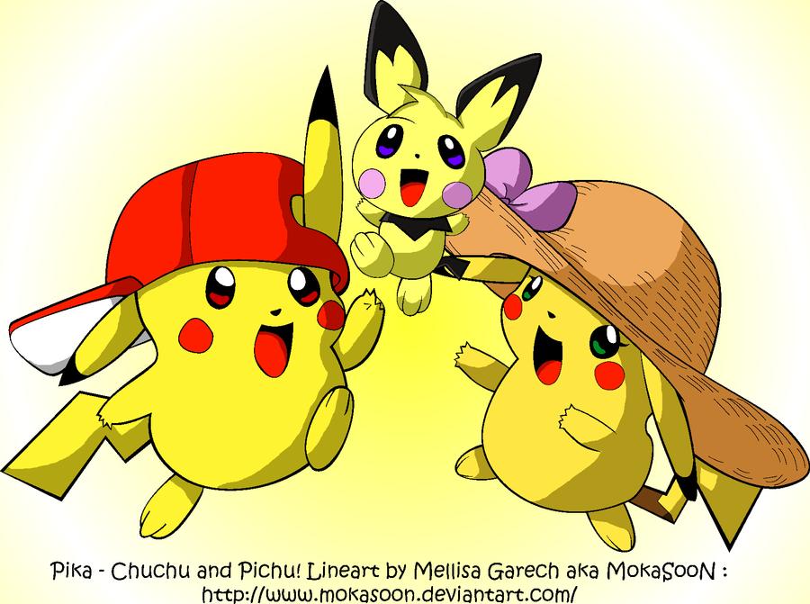 Pika, ChuChu and Pich by Armarillo-kun