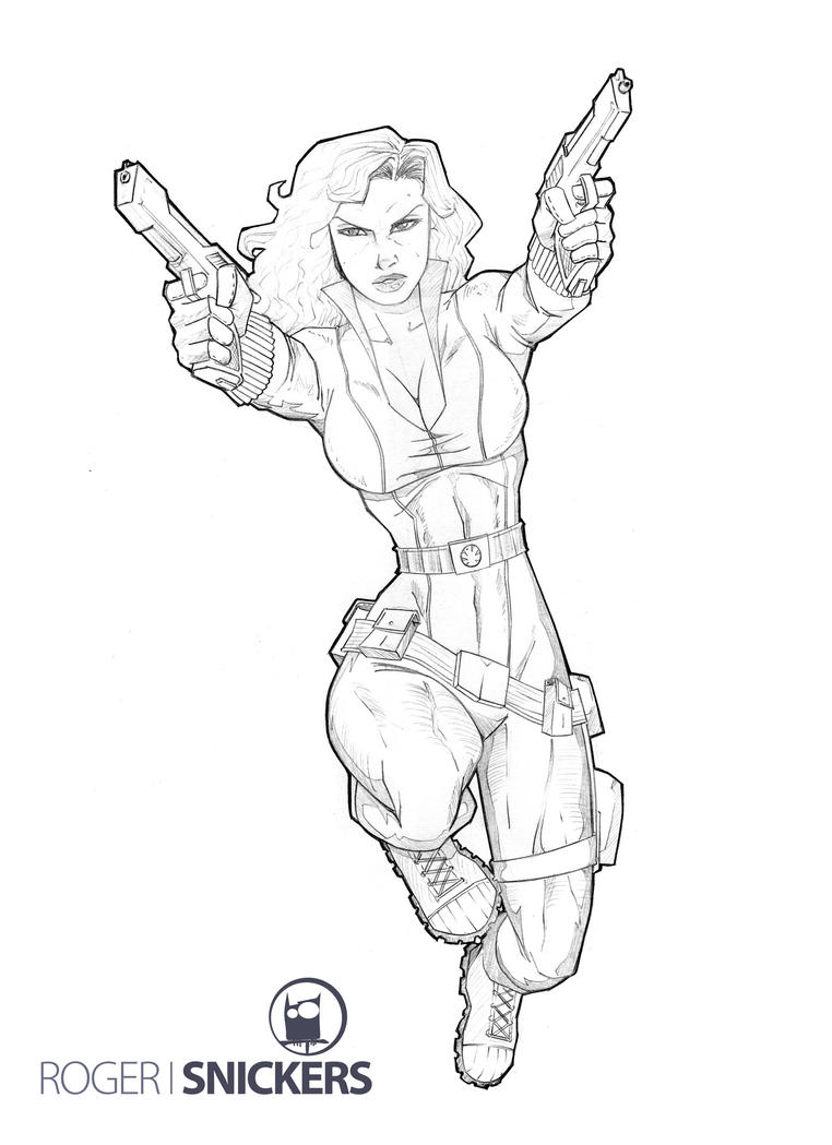 Free Nick Fury From Avengers Coloring Pages: Black Widow By RogerSnickers On DeviantArt
