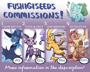 Fushigiseeds Commissions Menu 2021 [OPEN]