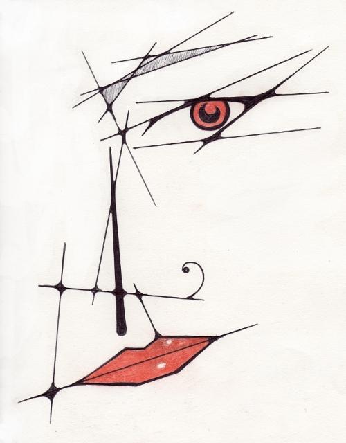 Abstract face by Kalyandra