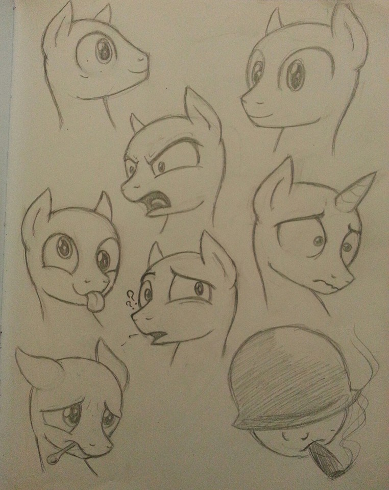 male pony faces by Kalyandra