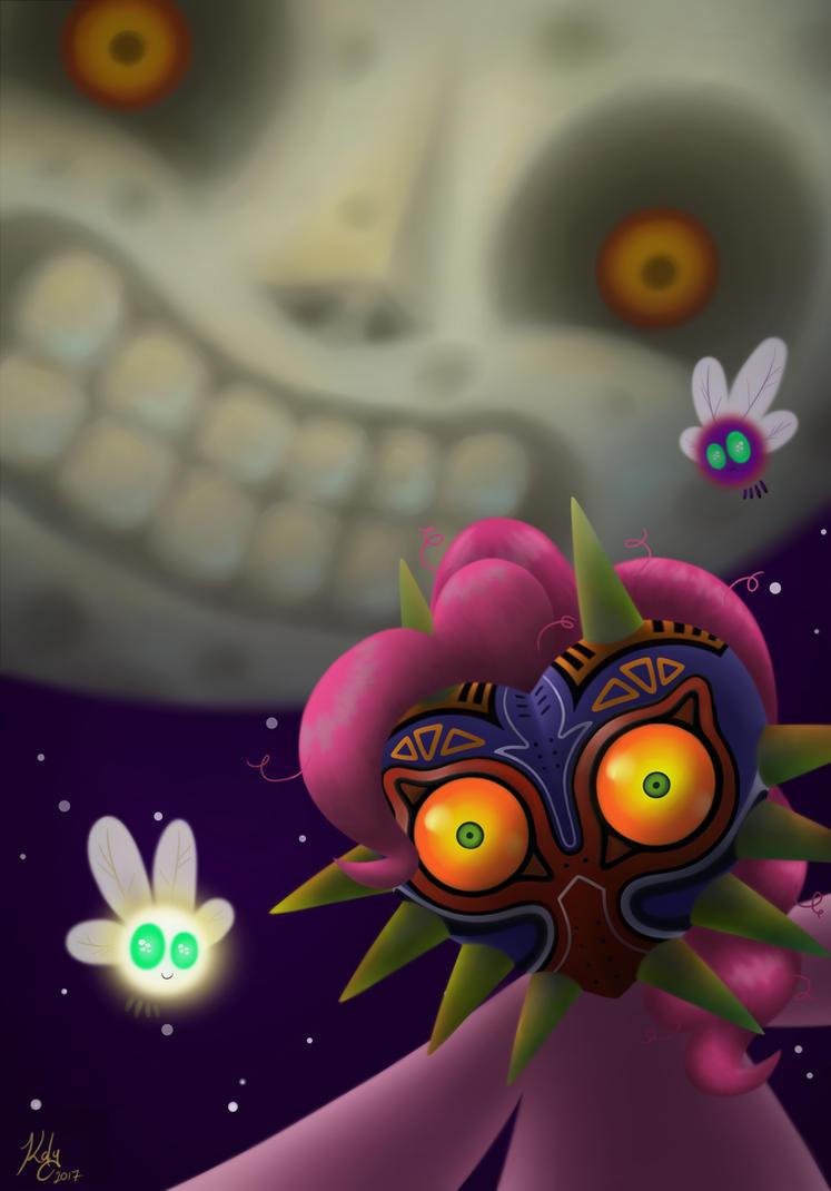 Majora's Mask - Pinkie Pie as Skull Kid by Kalyandra