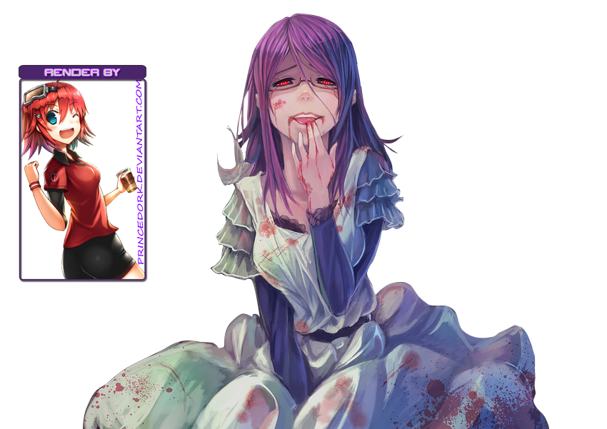 Les petits graphismes de Tegami ! - Page 7 Rize__render__tokyo_ghoul__by_princedork-d7tx692
