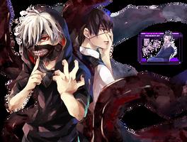 Kaneki Ken [Tokyo Ghoul Render] by princedork