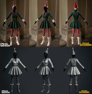 X-mas Elf PUBG 3D Model