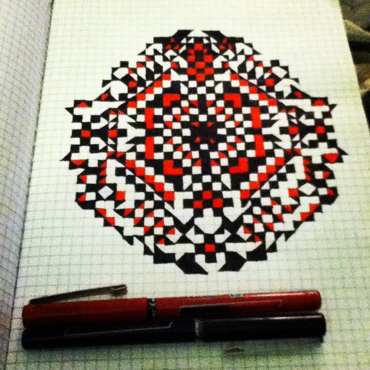 Graph Paper Designs Art