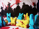 Zombie Bunnies by Mrs-Niccals