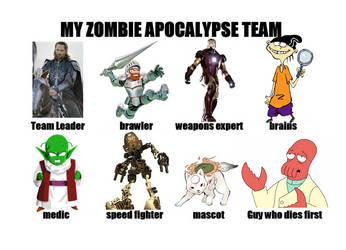 RedWizzrobe's Zombie Apocalypse Team by RedWizzrobe