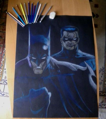 Batman and Nightwing by mystic17
