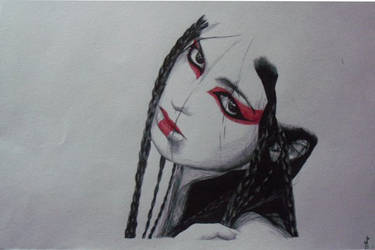 Black and red ballpen version by mystic17