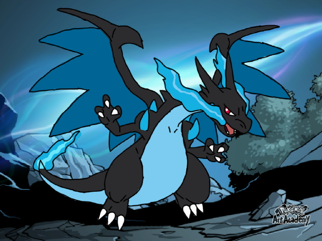 Mega Charizard X Wallpaper By Luiskoa64