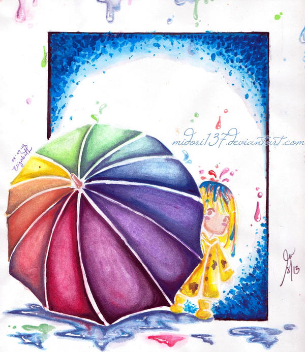 Color Umbrella by midori137