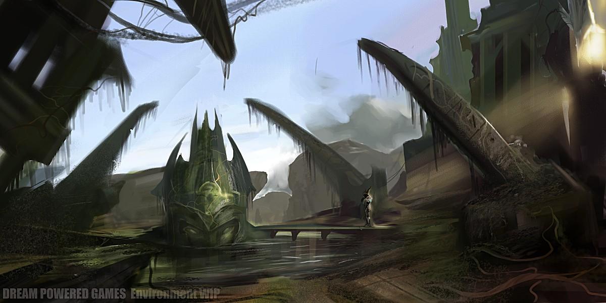 Alien Ruins Enviro WIP by stevegoad
