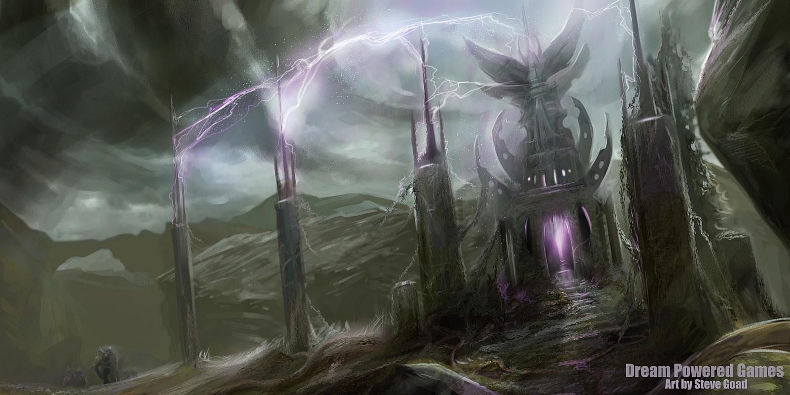 Alien Altar Concept - WarCry by stevegoad