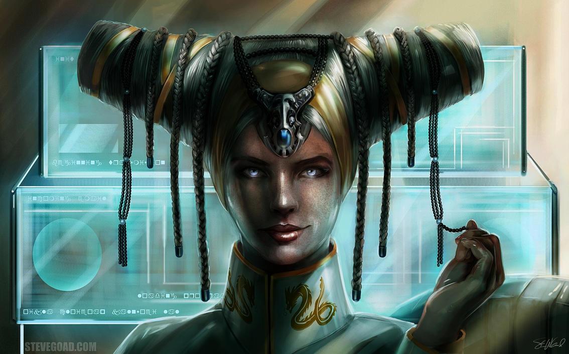 Commission - OC Headdress by stevegoad