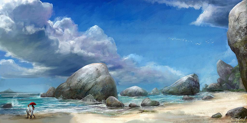 Walk on the Beach 2 by stevegoad