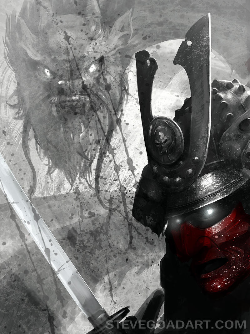 Samurai Print Idea by stevegoad