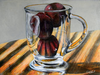 Fruit Cup - Acrylic painting by stevegoad