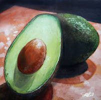 Avocado Mini Painting - Oils