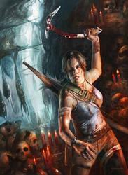 Tomb Raider Painting by stevegoad