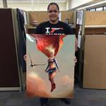 Supergirl Commission Printed on Metal by stevegoad