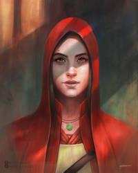 Female Portrait Art by stevegoad