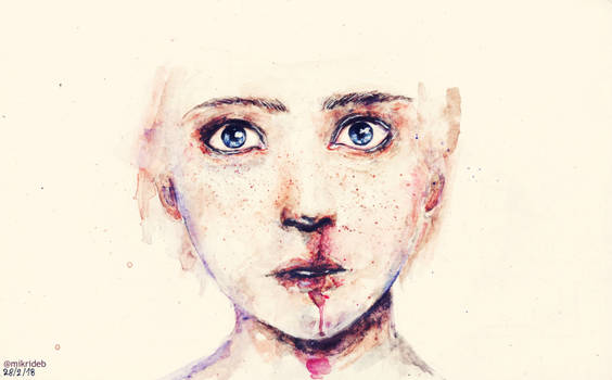 Violence, her eyes