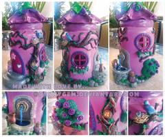 Fairy flower House Jar by PennyGEM