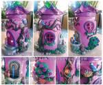 Fairy flower House Jar